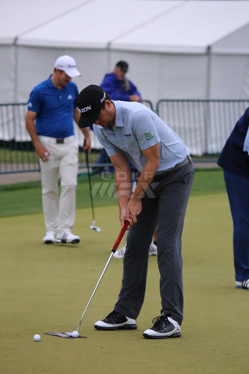 Keegan Bradley with EyeLine Golf Putting Alignment Mirror
