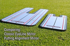 Classic EyeLine Putting Mirror (Large) - Free Indoor Putting Gate Post 4-Pack ($9.95 Value)