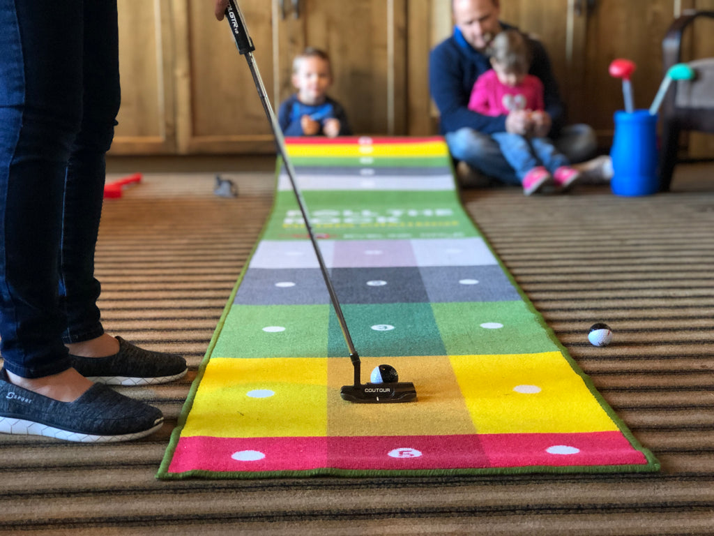 Ships 5/30 - Roll the Rock Putting Challenge Mat (12'x2')