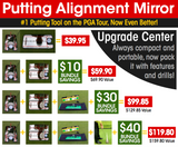 "Putting Alignment Mirror - Small 5.75"" x 11.75"""