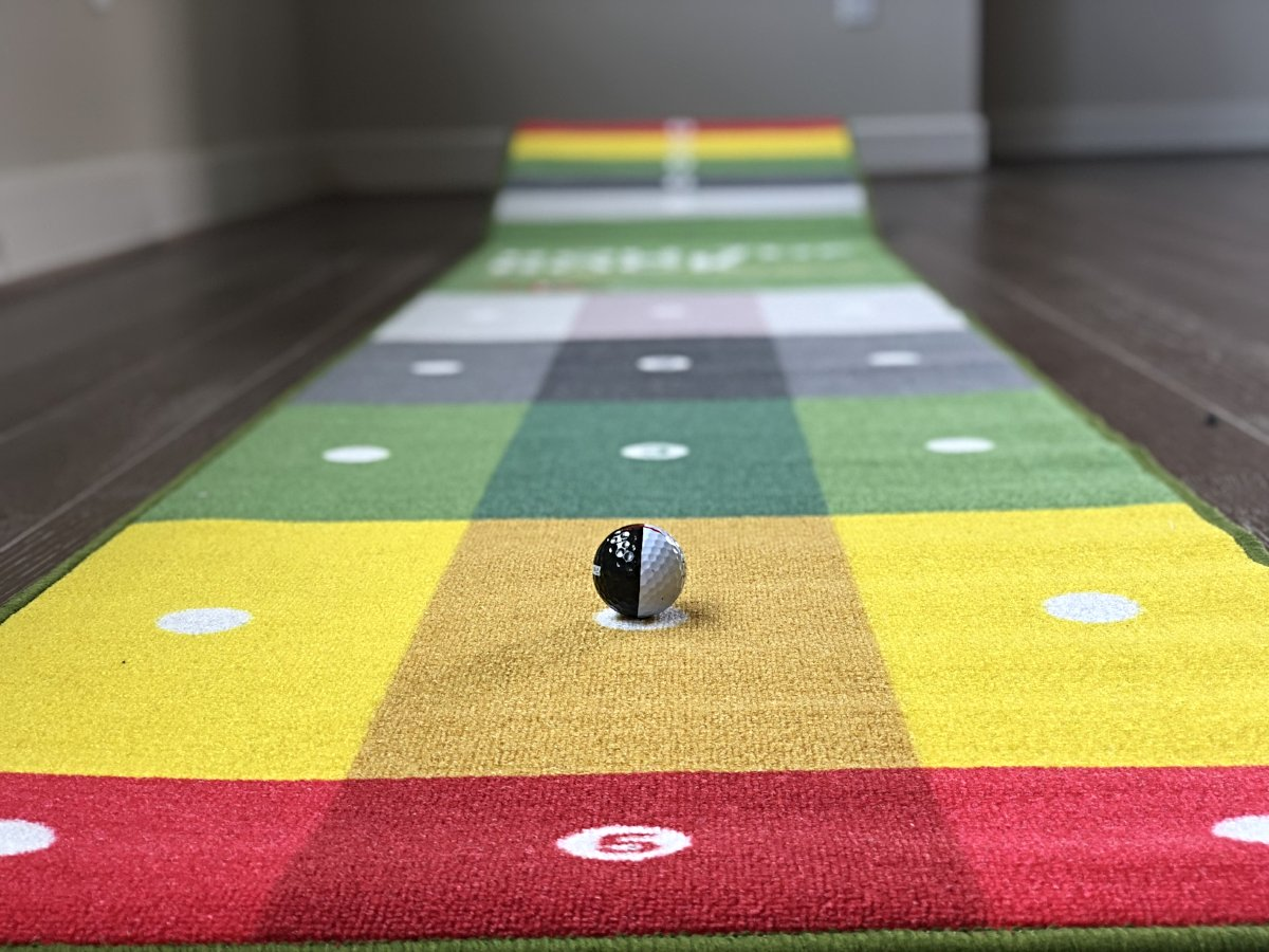 In Stock - Roll the Rock Putting Challenge Mat (12'x2')