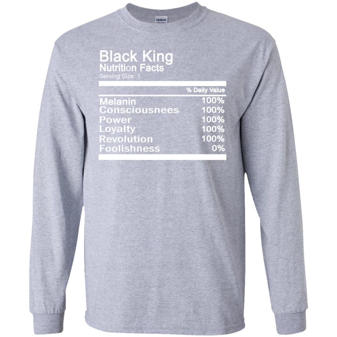 Black King Nutrition Facts T-shirts ~ African-American T-shirts ~ Shirts For Black Men ~ Black History Month