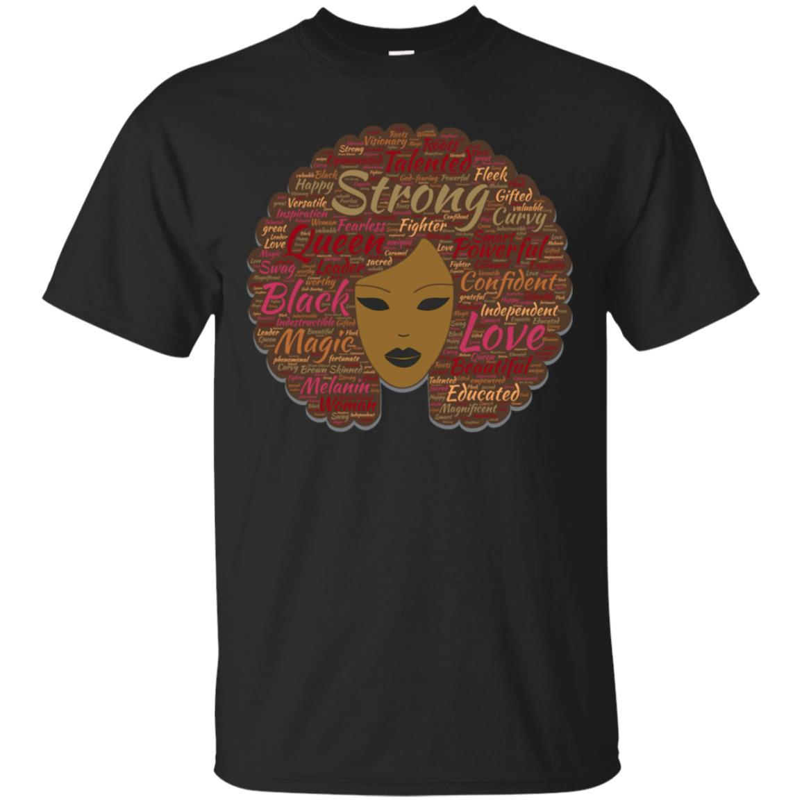 Afro Word Art Black History Month Natural Hair T-Shirt