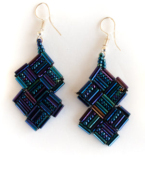 Geo Huichol Earrings