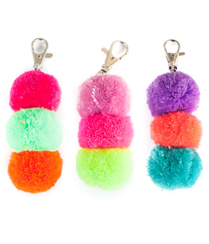 Mini Triple Pom Keychain