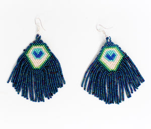 Peacock Fringe Earrings