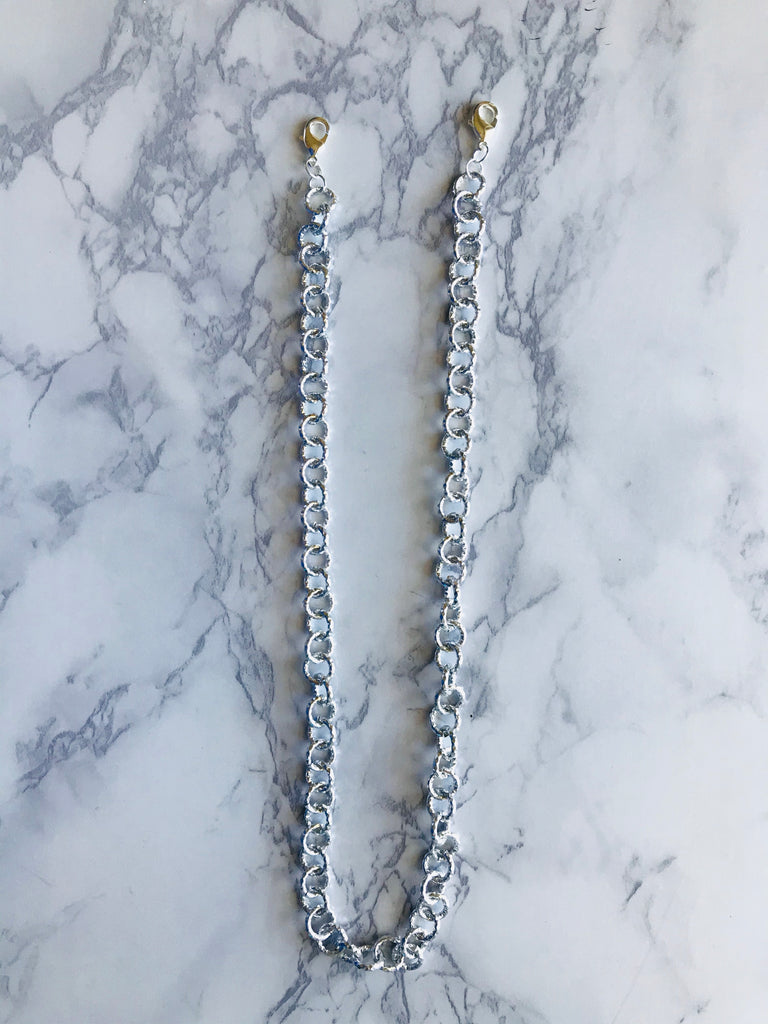 Silver Chain Mask Necklace