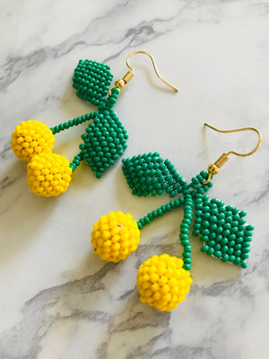 Sweet Lemon Earrings (double)