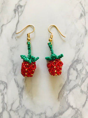 Baby Strawberry Earrings