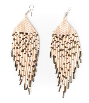 Huichol Stardust Fringe Earrings