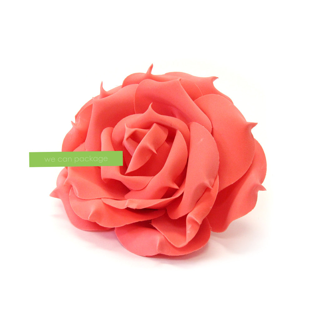 10 Inches Coral Rose Flower - We Can Package