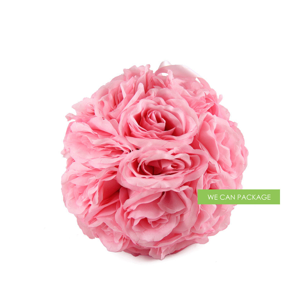 8 Inches Pink Rose Ball | Flower Ball Centerpieces