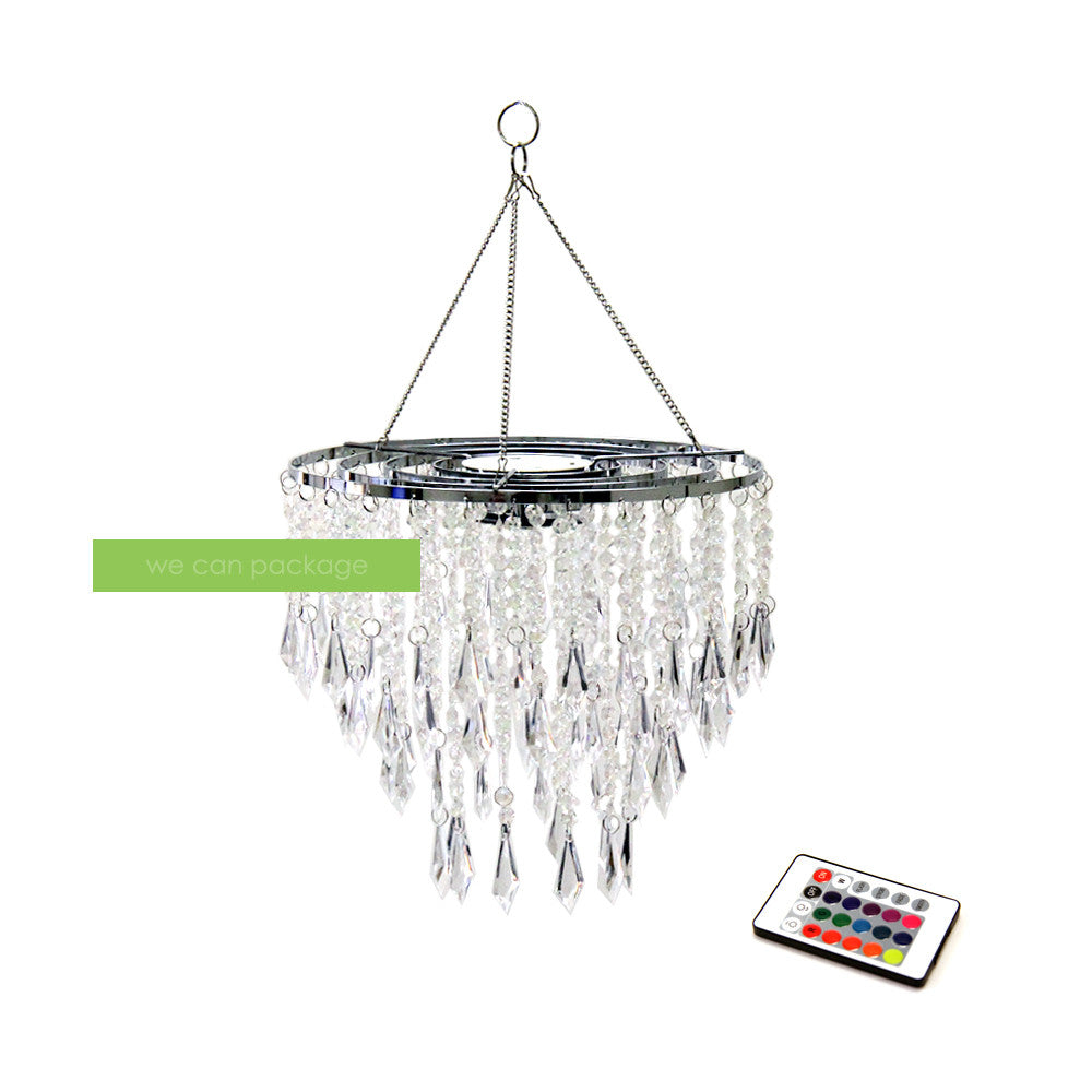 Battery Powered Chandelier With Remote