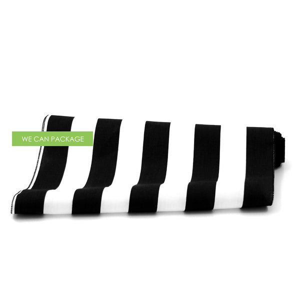 Black And White Cotton Striped Table Runner