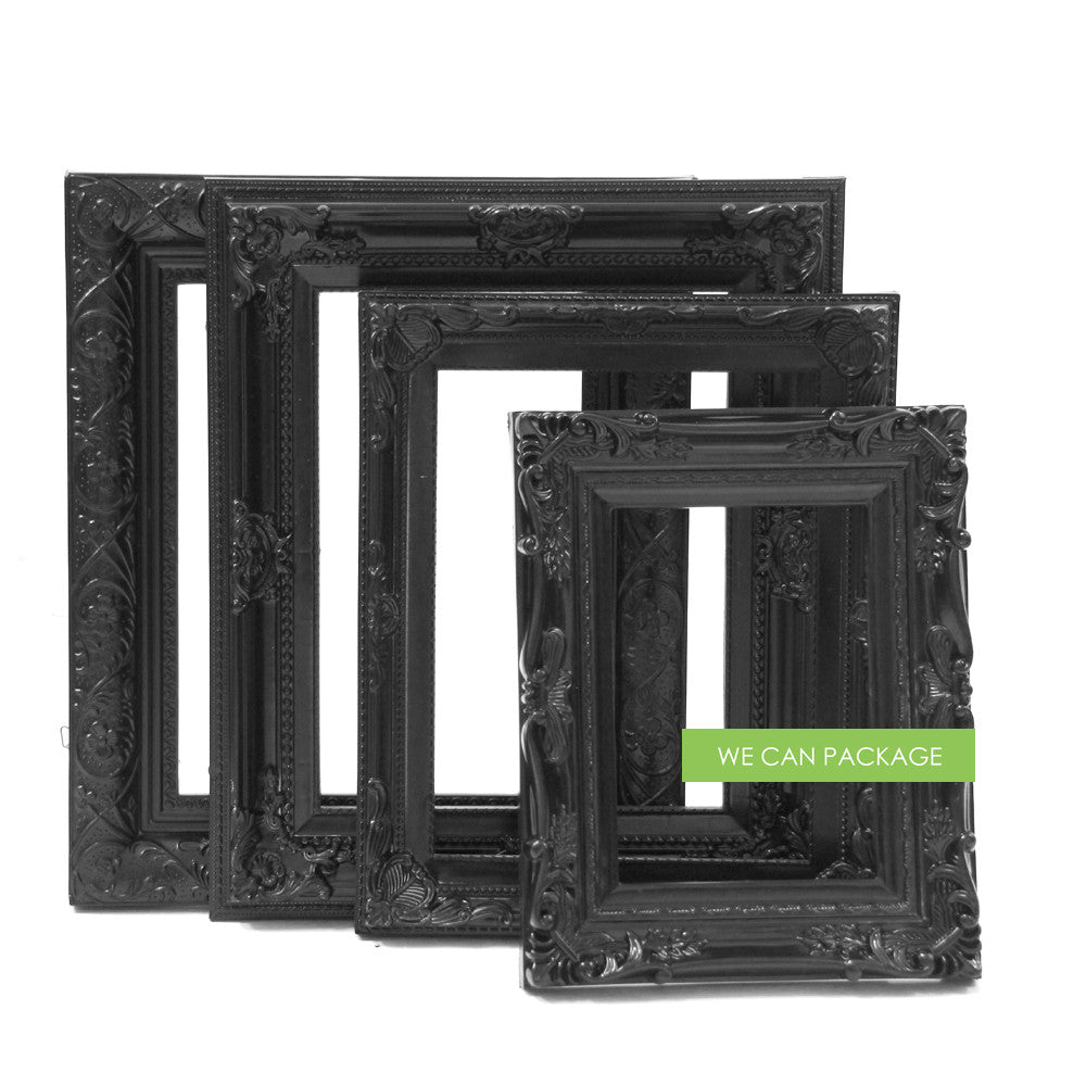 Black Ornate Picture Frame by We Can Package