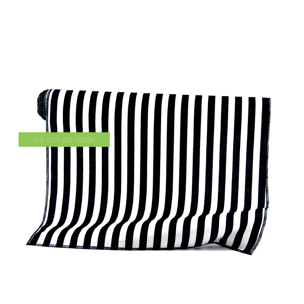 Black White Striped Table Runner We Can Package