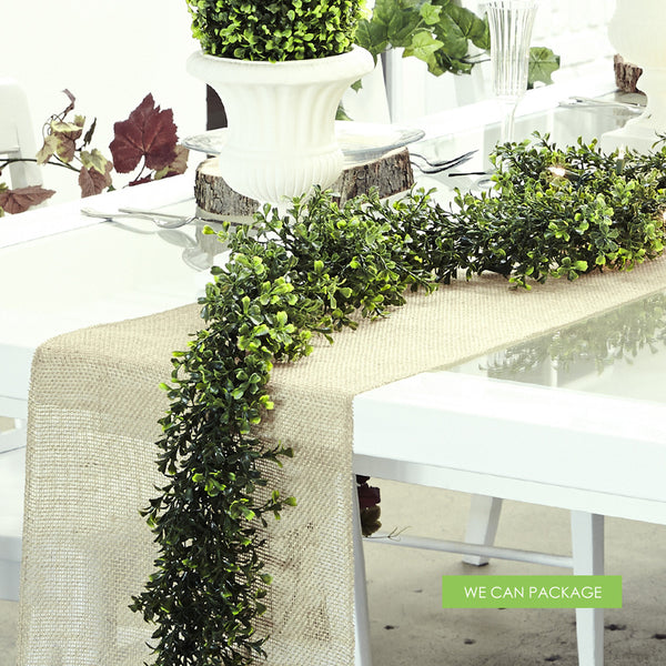 boxwood garland   rustic table runner we can package diy wedding flower centerpieces classes diy wedding floral arrangement