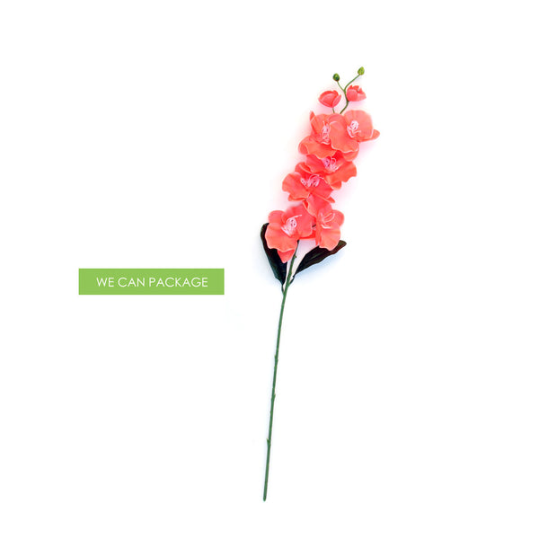 Coral orchid branch centerpieces table