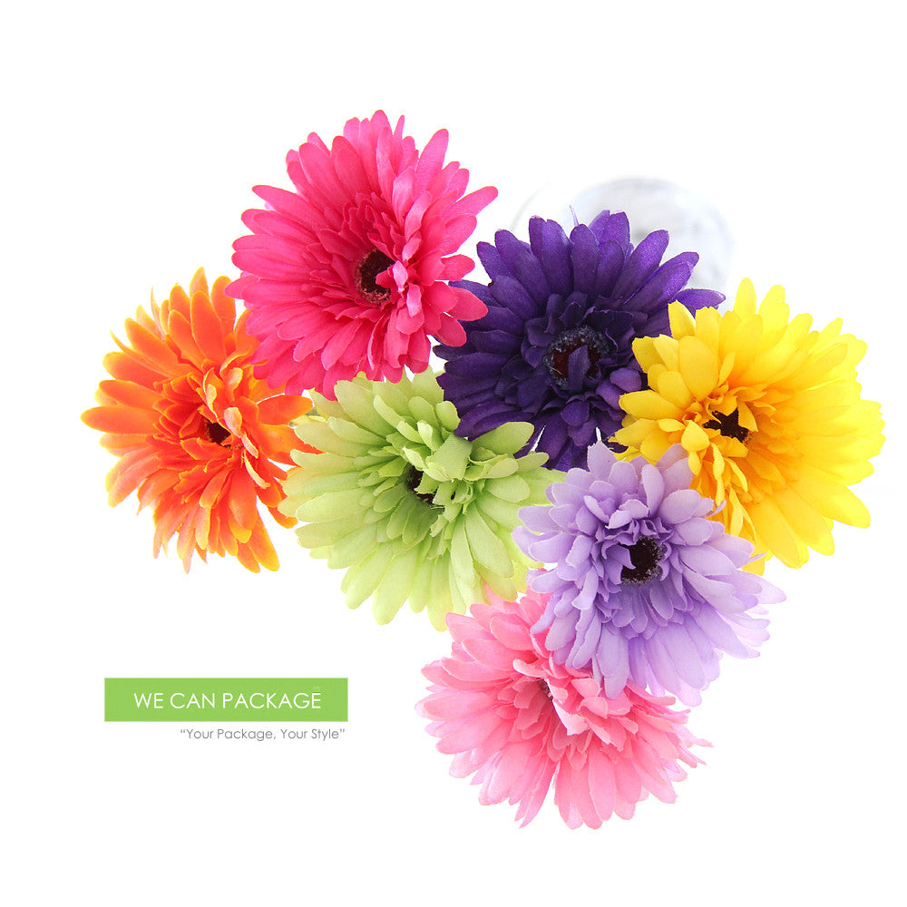 Yellow Gerbera Daisy Spray Artificial Daisy Flower Fake Daisies