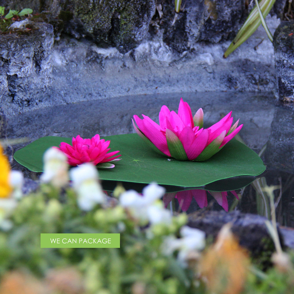 Hot Pink Lotus Flowers Pink Floating Decoration Pool Party Decor