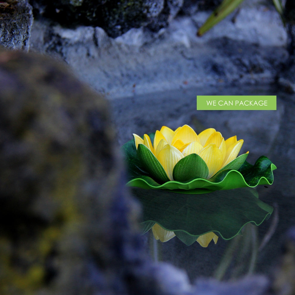Yellow Lotus Flowers Yellow Floating Decoration Pool Party Decor