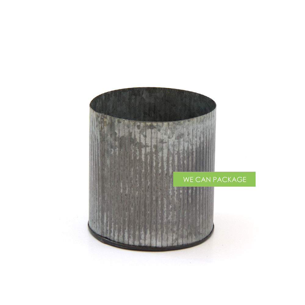 Galvanized Tin Vase We Can Package