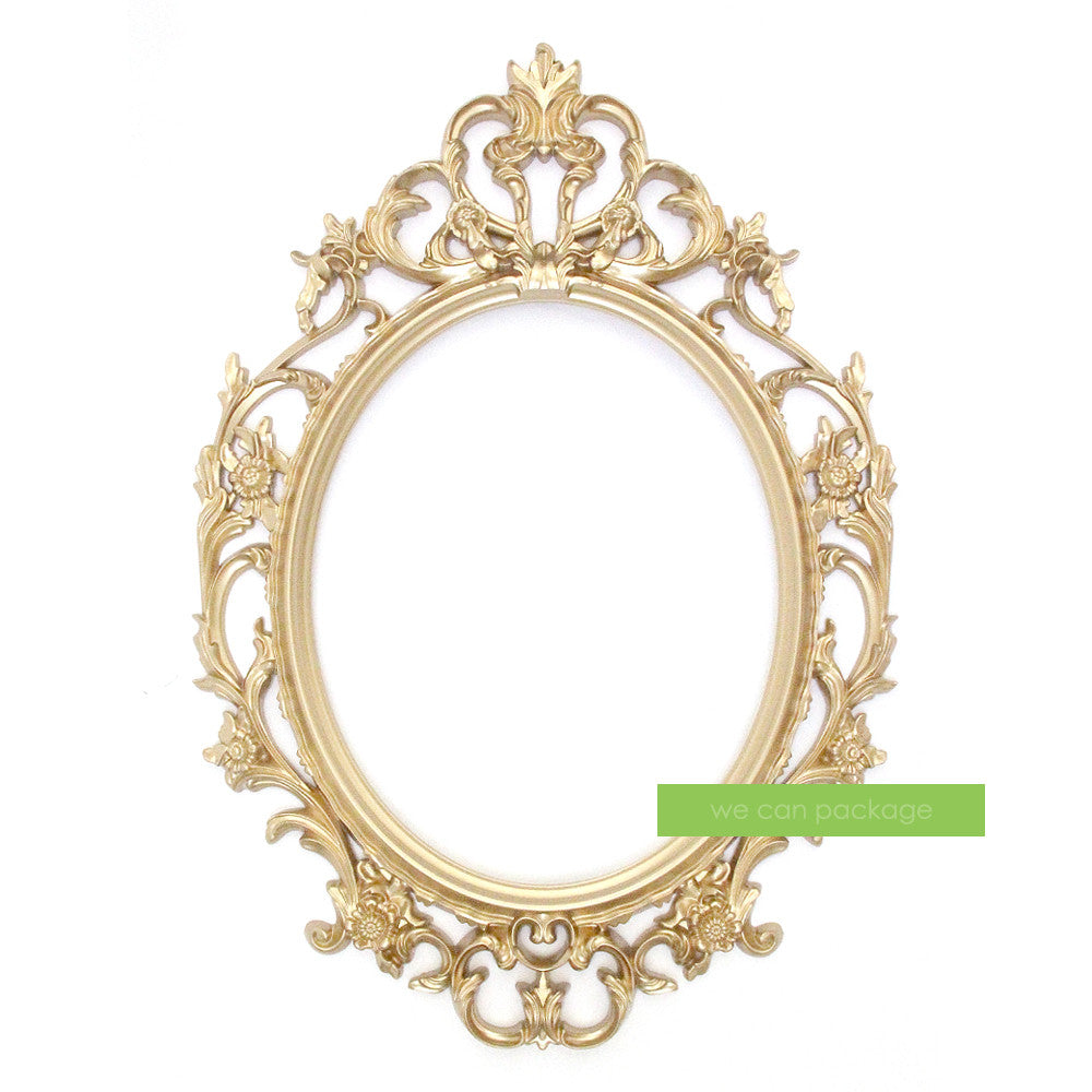 Gold Ornate Oval Frame by We Can Package