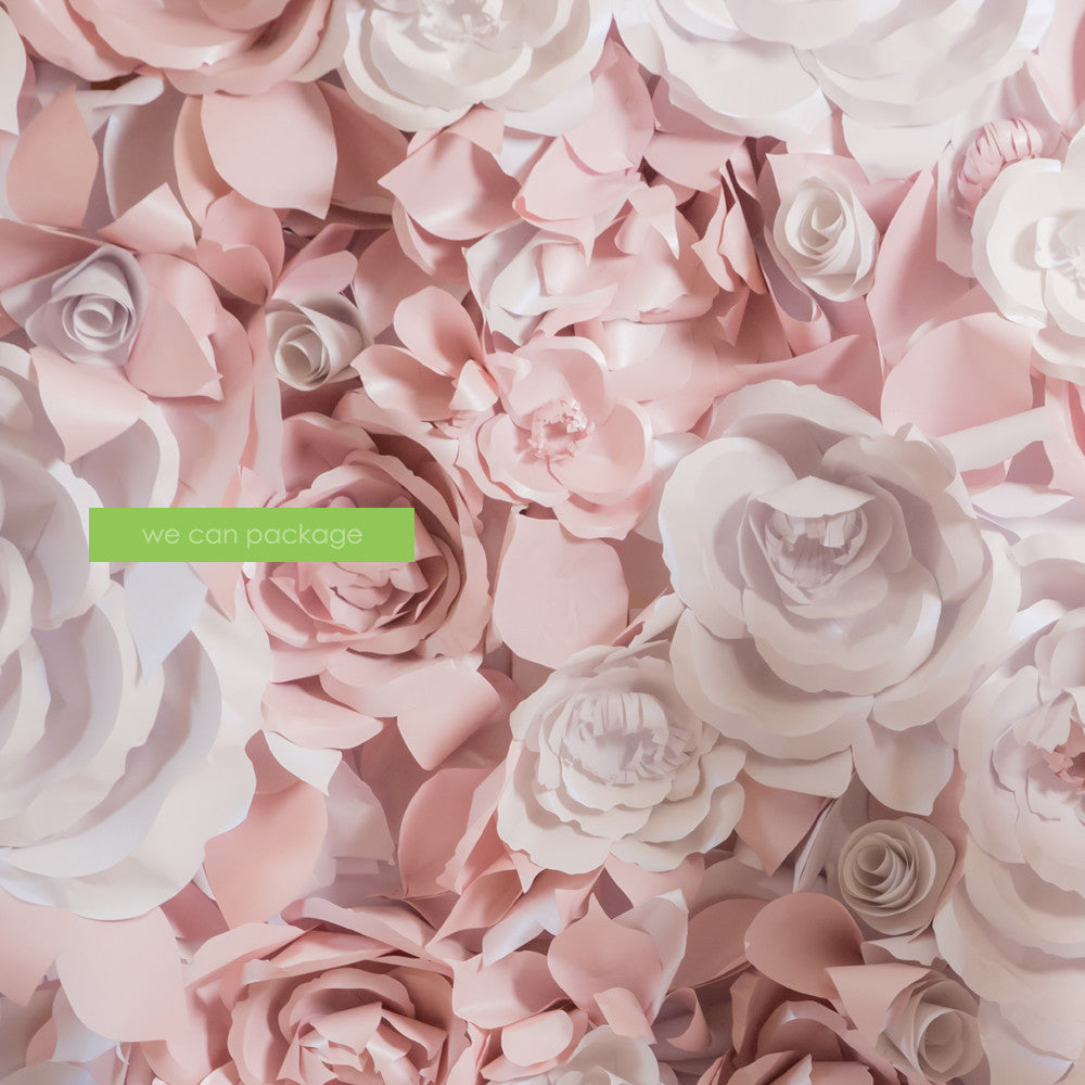 Flower Wall 9 Inches Cream Rose Flower We Can Package