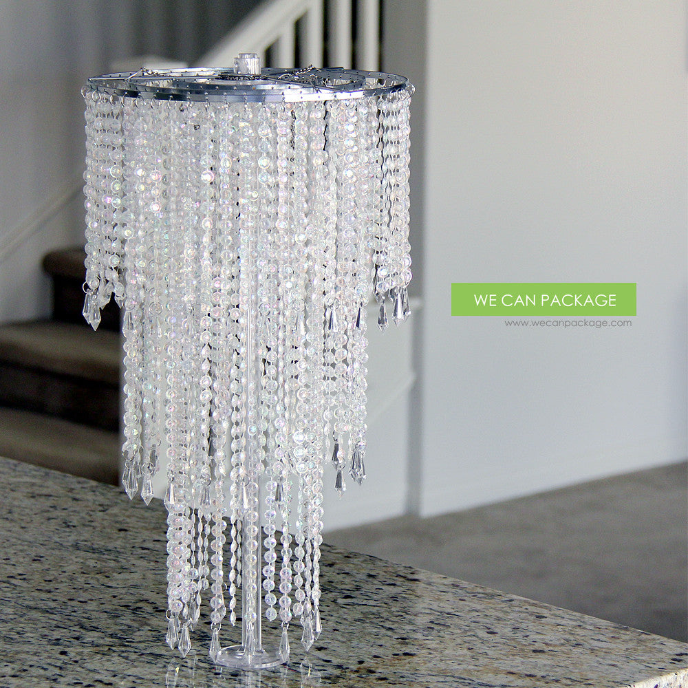 Clear plastic base for tabletop chandelier stand clear plastic base chandelier stand aloadofball Gallery