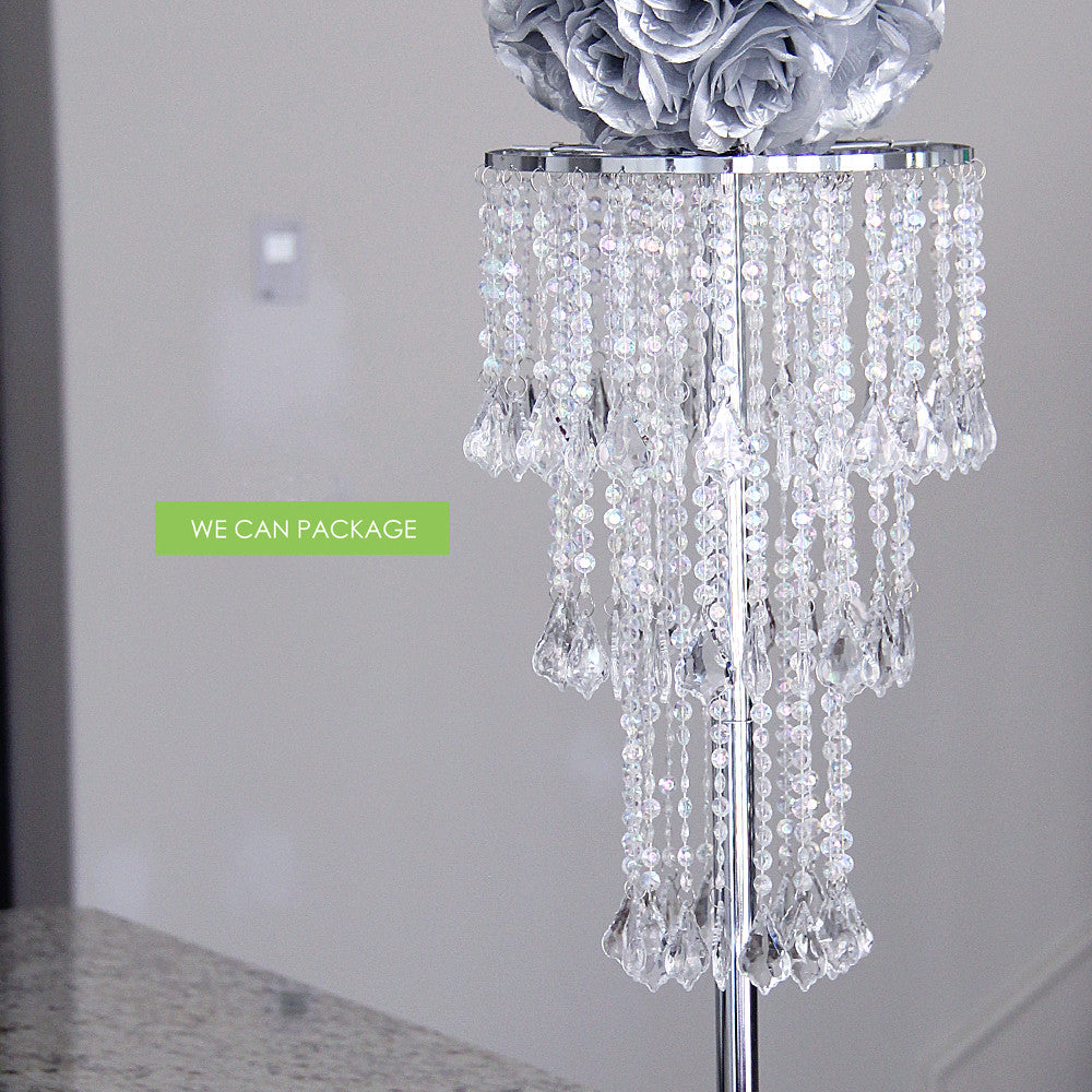 Battery operated chandelier with remote we can package chandelier remote beaded tabletop chandelier aloadofball Gallery