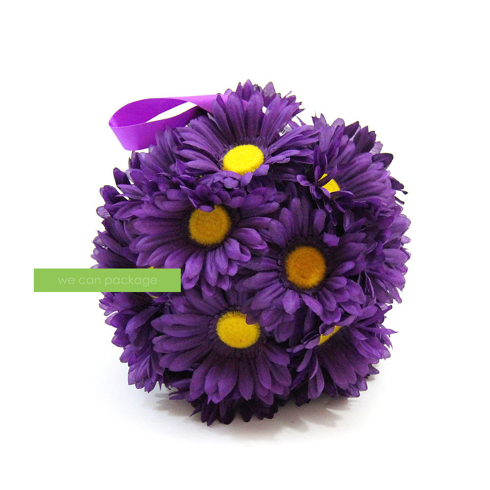 Purple daisy flower ball we can package izmirmasajfo