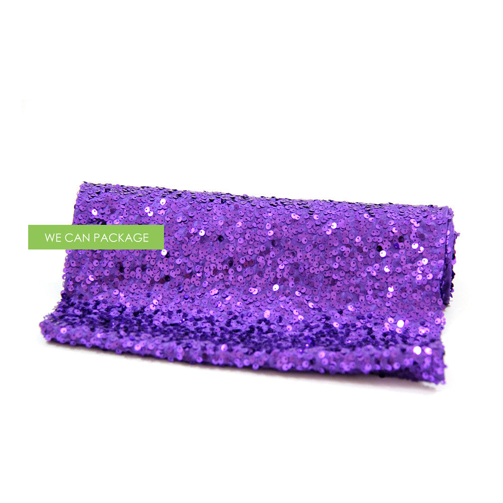 Purple Sequin Table Runner For Glam Tablescape