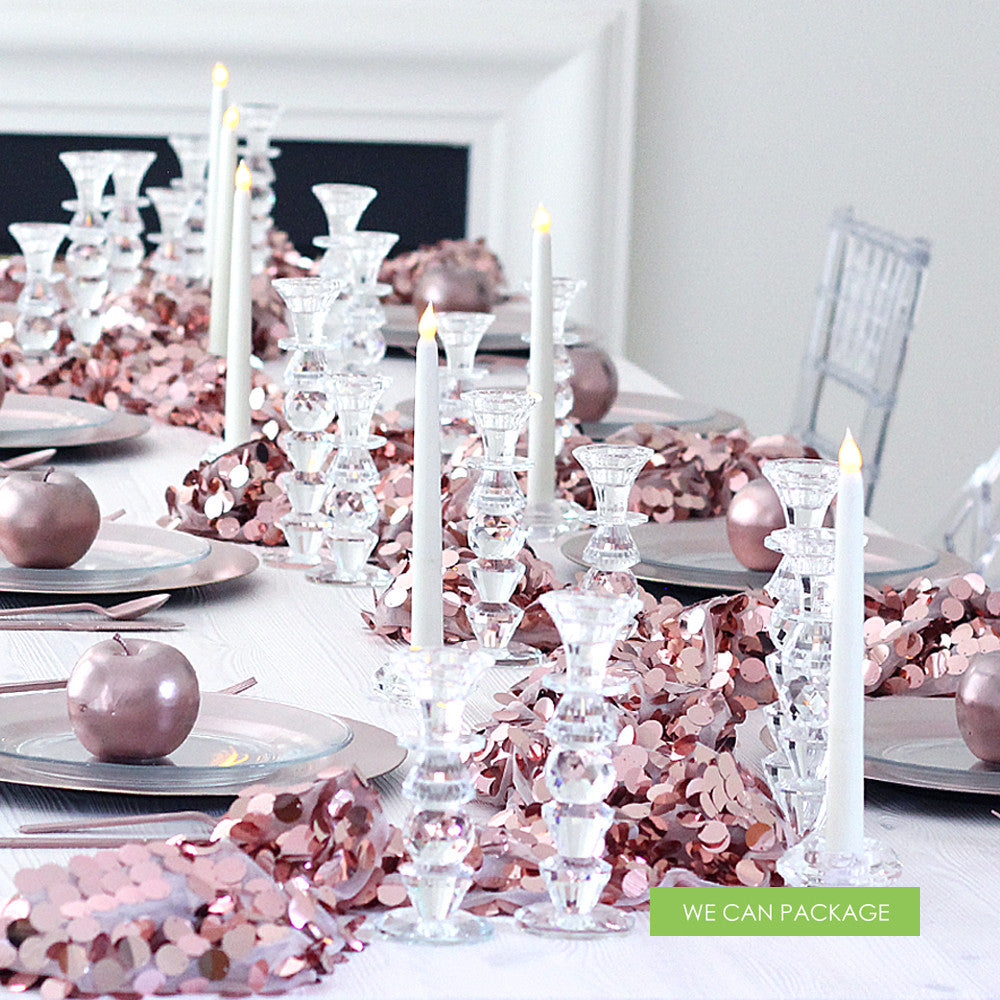 Diy wedding centerpiece ideas do it yourself pearl for Decoration rose gold