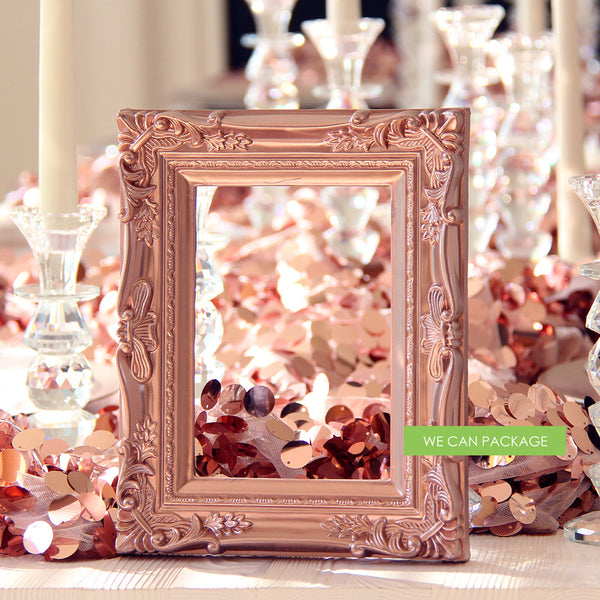 Rose Gold Baroque Picture Frame