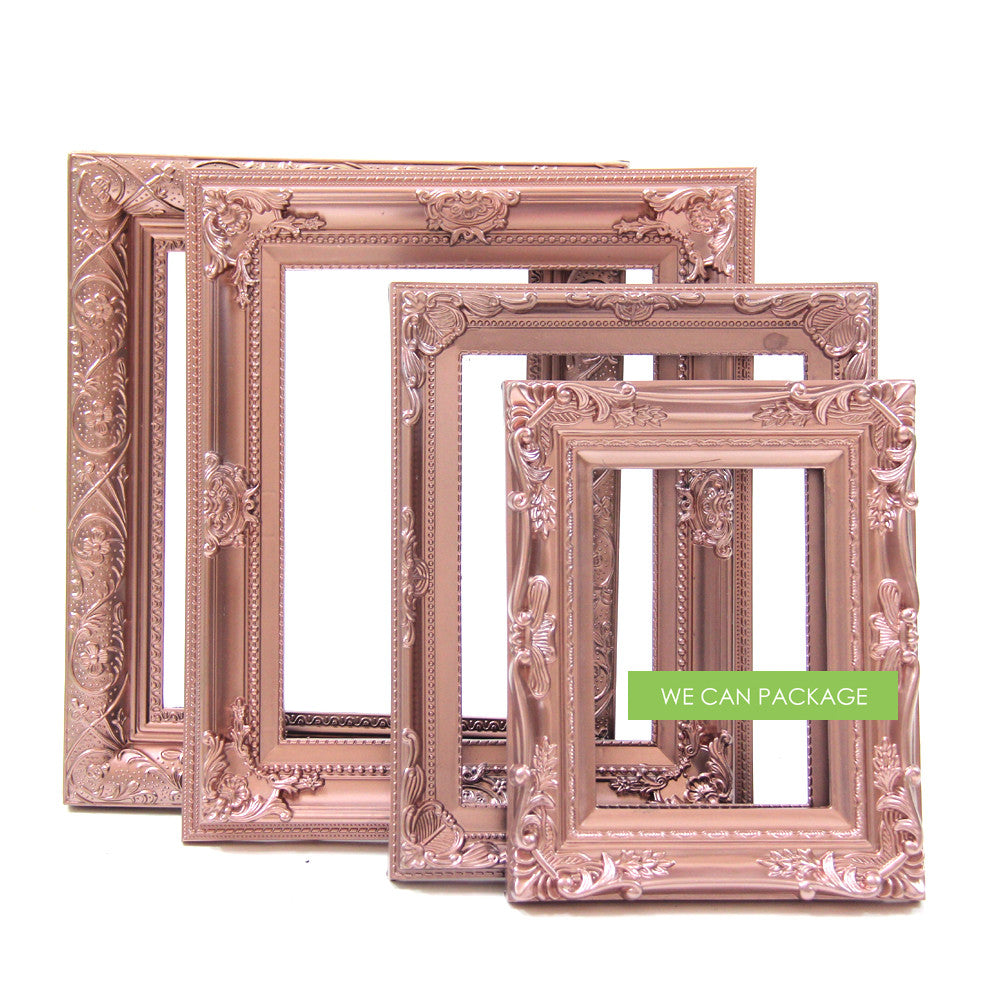 Rose Gold Ornate Picture Frame by We Can Package