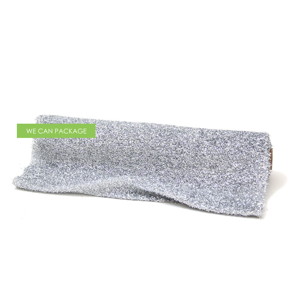 silver sparkle table runner by we can package. Black Bedroom Furniture Sets. Home Design Ideas