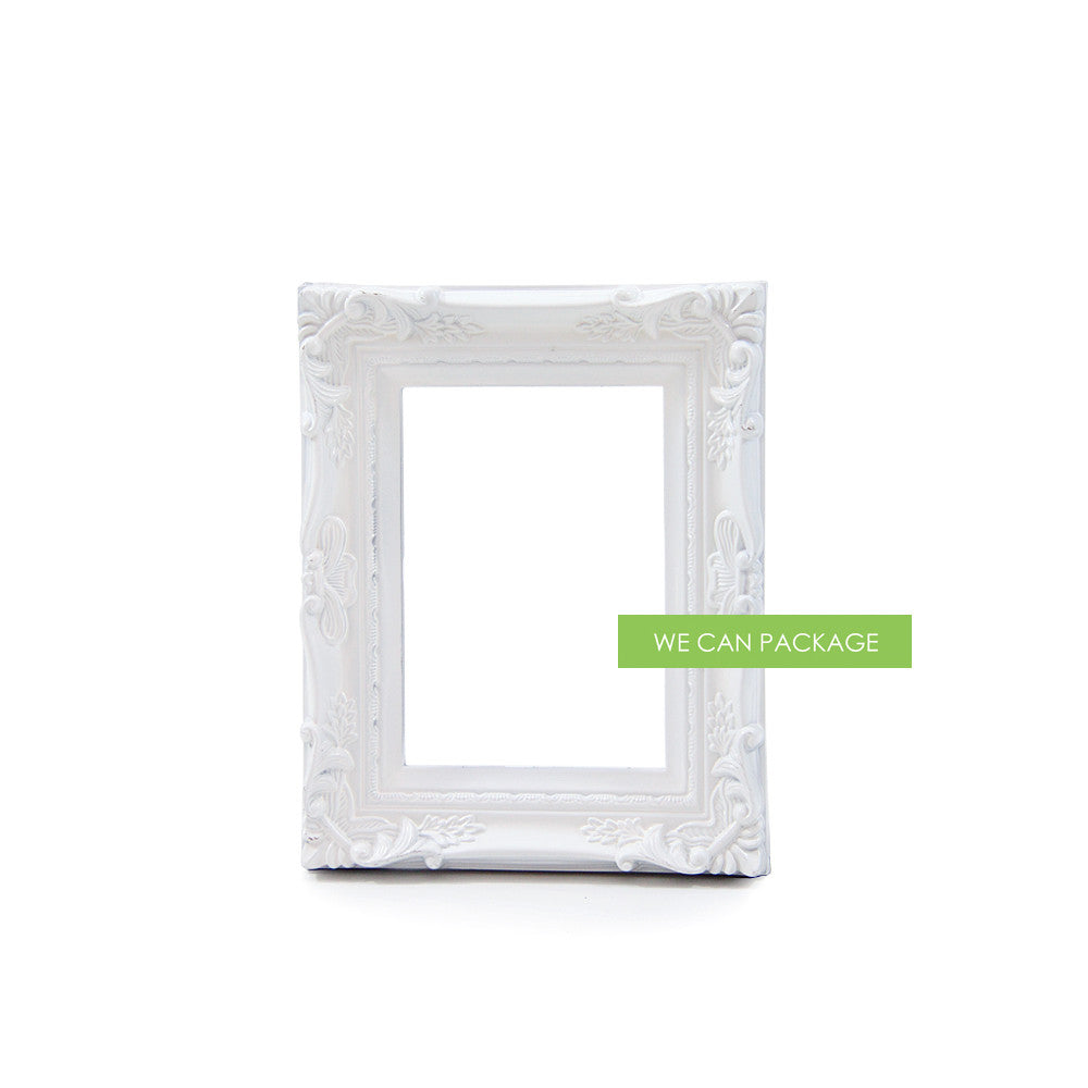 White Baroque Picture Frame by We Can Package