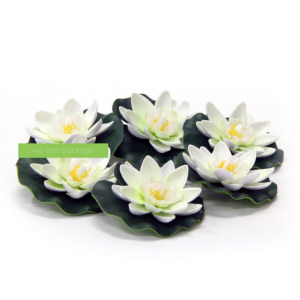 White Floating Lotus Flowers We Can Package