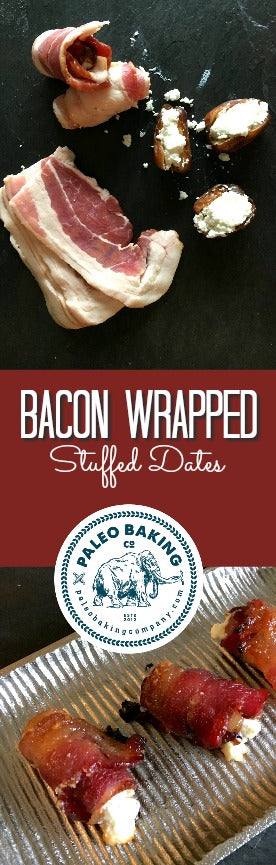 Recipe for Paleo Bacon Wrapped Stuffed Dates