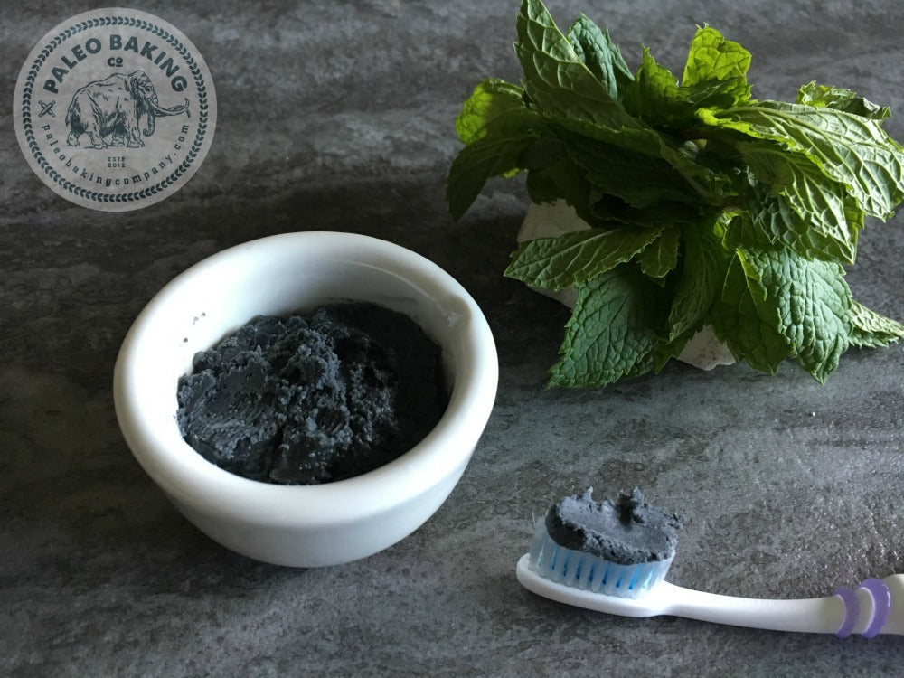 Coconut oil toothpaste with activated charcoal