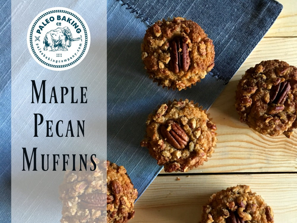 Paleo Maple Pecan Muffins Header