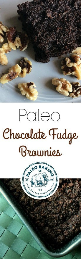Paleo Chocolate Fudge Brownies by Paleo Baking Co