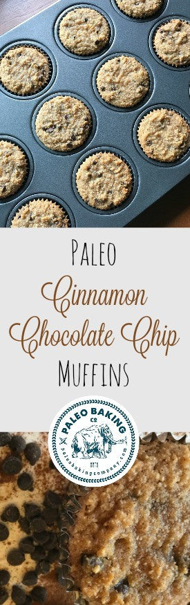 Paleo Cinnamon Chocolate Chip Muffins Recipe for Pinterest