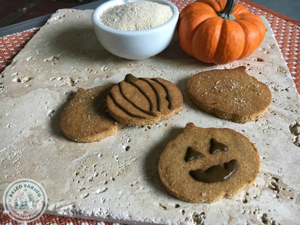 Frosted Paleo Pumpkin Cookies