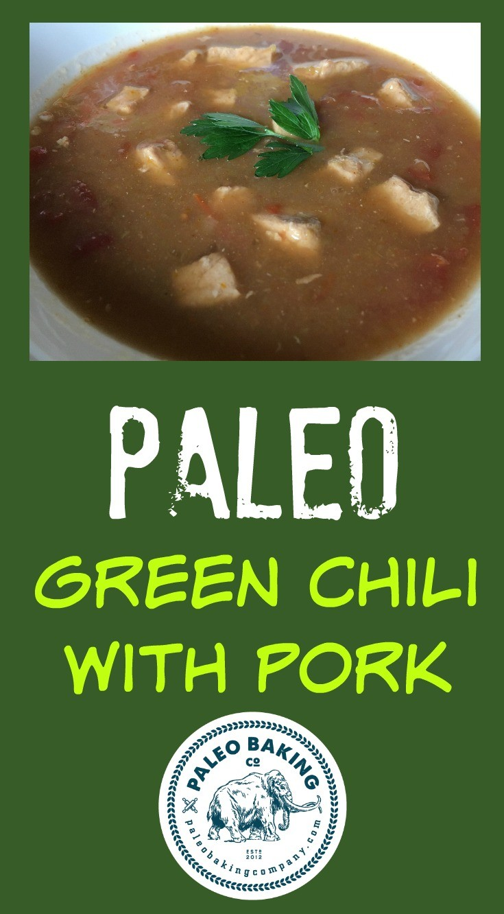Paleo Pork Green Chili recipe for Pinterest