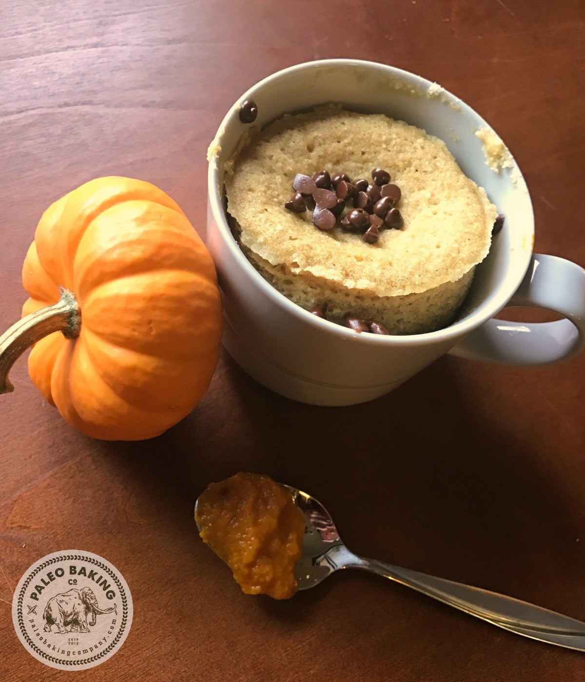 Paleo Pumpkin Chocolate Chip Mug Cake | Paleo Baking Company