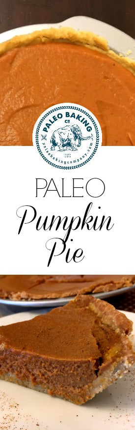Paleo pumpkin pie recipe for Pinterest