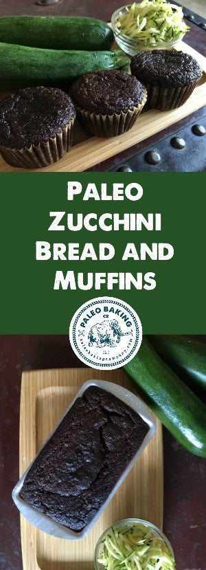Paleo Zucchini Bread and Muffins by Paleo Baking Company
