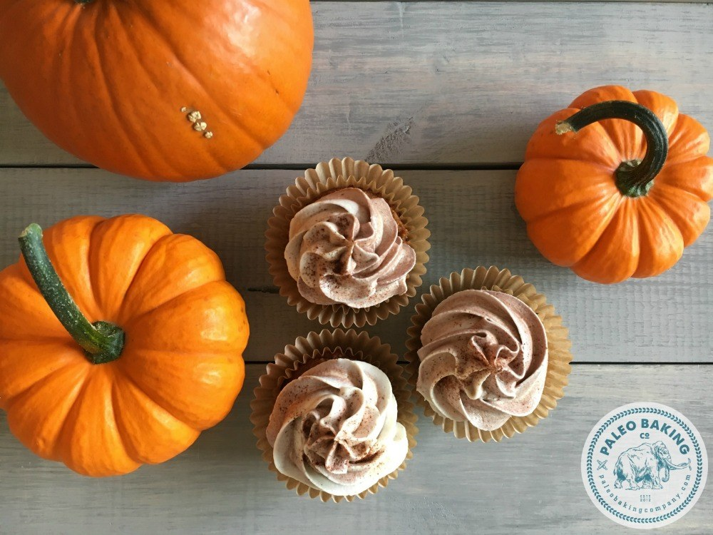 Paleo Pumpkin Spice Cupcakes made with Paleo Baking Company