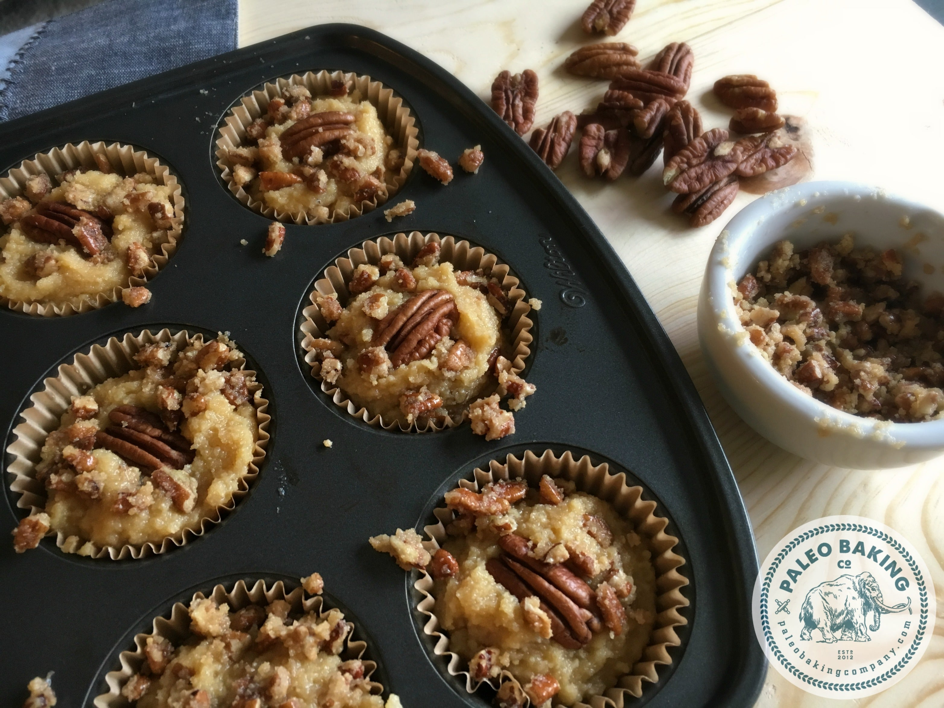 Paleo Maple Pecan Muffins with Streusel